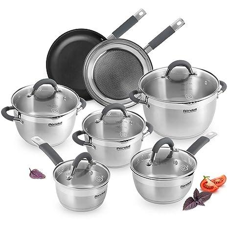 Juego de utensilios de cocina de acero inoxidable Rondell ...