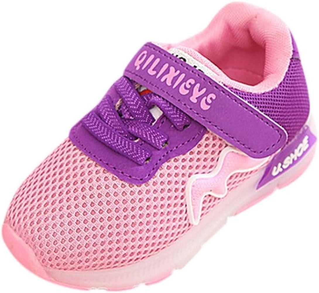 Bebé Permeabilidad velcro cordones tenis zapatillas con LED luces ...