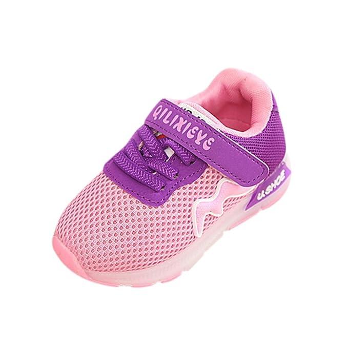 Bebé Permeabilidad velcro cordones tenis zapatillas con LED luces ,Yannerr recien nacido niño niña luminoso