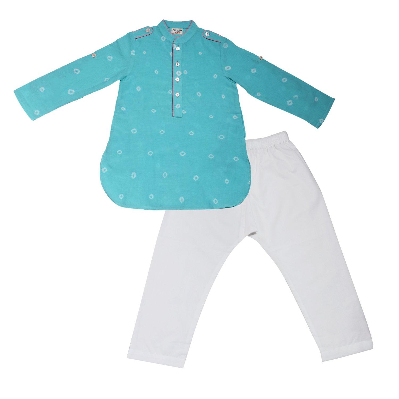 Amazon GiggleBuns Kids Shibori Print Ethnic Wear Kurta Pajama