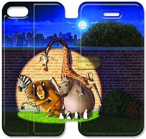 Coque iPhone 6 6s 4,7 pouces Coque Cuir, Klreng Walatina® 6 6s PU Cuir de portefeuille Coque Design by Madagascar Tuer Zoo I1B6Gf Cartoon
