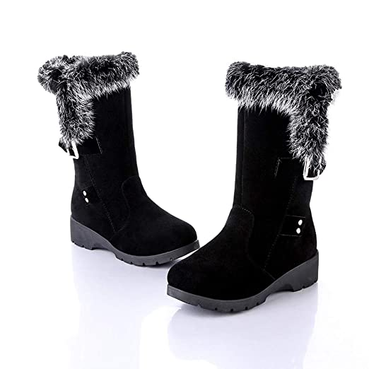 69b4ee1d51b68 Amazon.com: NDGDA Women Ankle Boots Winter Warm Snow Boots Buckle Plus  Velvet Wedge Platform Boots: Arts, Crafts & Sewing