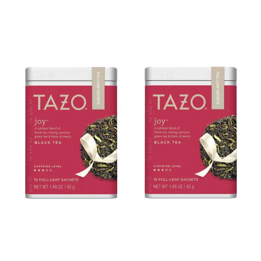 Tazo Joy Full-Leaf Sachets Black Tea 15 ct (Pack of 2)