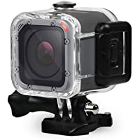 FiTSTILL Dive Housing Case for GoPro Hero 5 Session Waterproof Diving Protective Shell 45m with Bracket Accessories for…