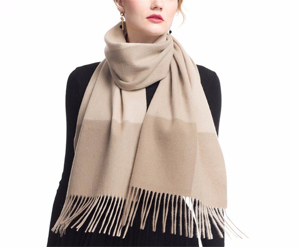 DIDIDD Pañuelo bufanda de cachemira de invierno y damas chal de lana a cuadros de primavera e invier...