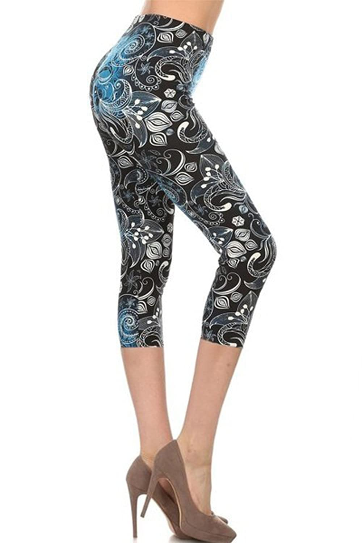 2cf55b75a18 Leggings Depot Women's Popular Capri Cropped REGULAR and PLUS Printed High  Waist Leggings at Amazon Women's Clothing store:
