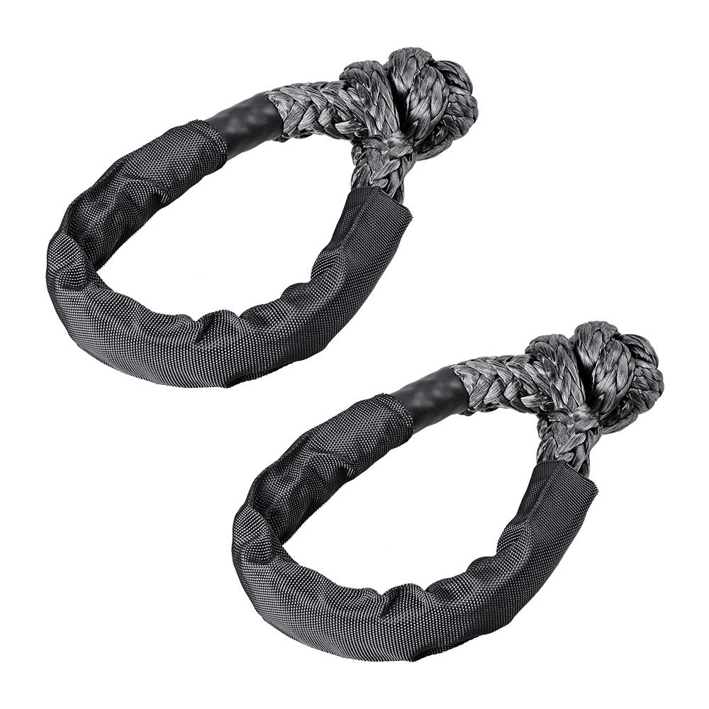 Astra Depots Set of Two 1/2'' Synthetic Soft Rope Shackles 38,000lbs+ Black (2pcs) by Astra Depots