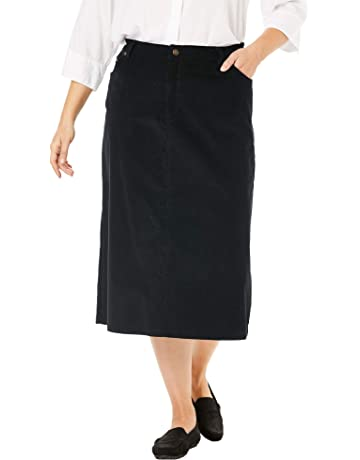 25ba8529ff Woman Within Women's Plus Size Corduroy Skirt
