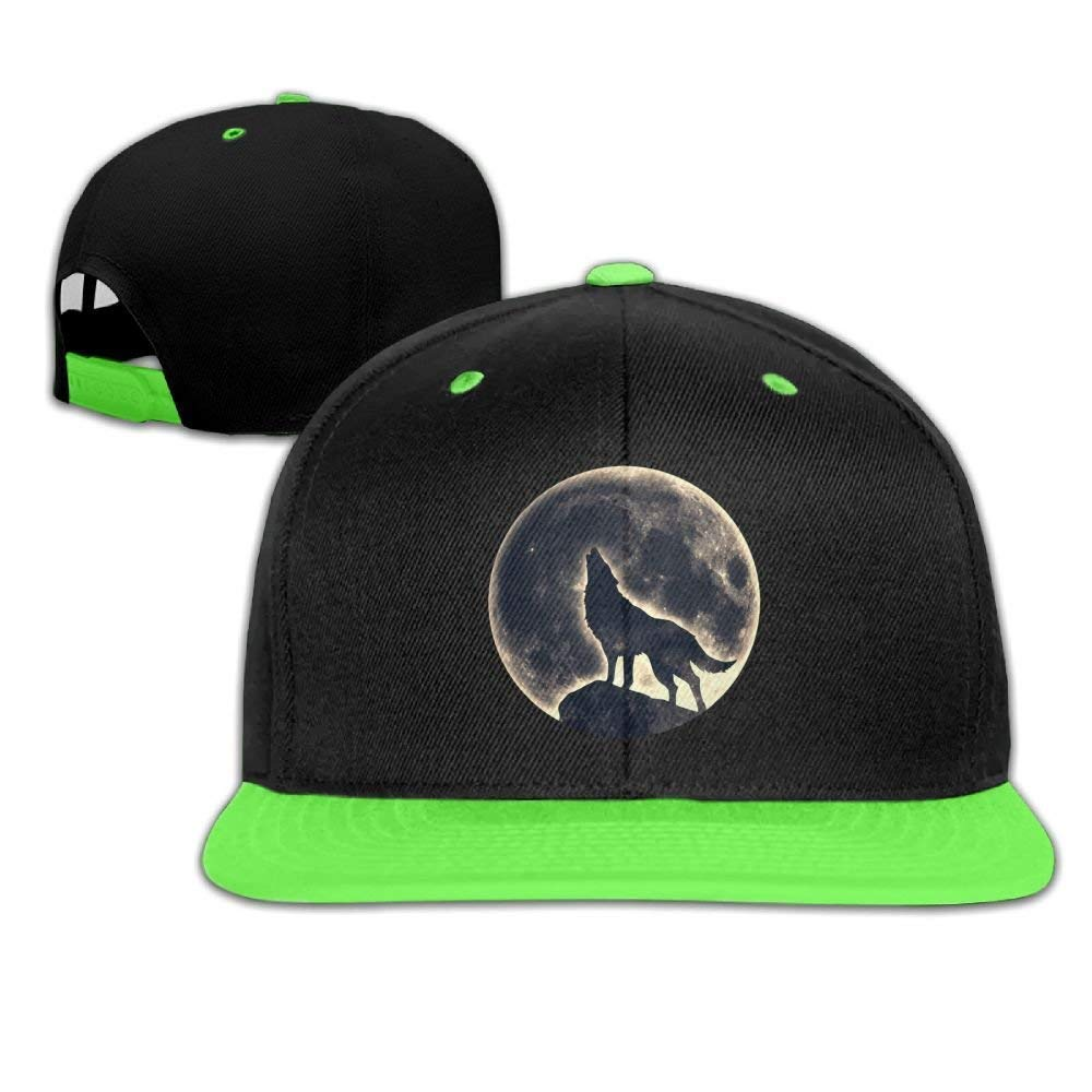 Kids Hip Hop Baseball Cap and Hats Boys Girls Moon Wolf