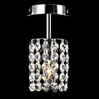 YANG1MN Aisle Lights Crystal Small Chandeliers Modern Minimalist Single Head Ceiling Lamp Balcony Light Foyer Lights LED…