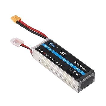 Dailyinshop 11.1V 5000mAh 30C XT60 Enchufe Li-Poly Batería ...