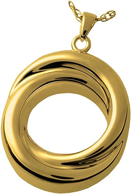 Memorial Gallery 3833gp Infinity Love Knot Companion 14K Gold//Silver Plating Cremation Pet Jewelry