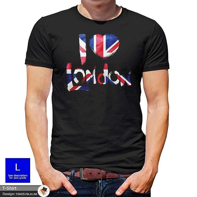 Lord Fox - Hombre Londres Inglaterra Camiseta Trendy Gran Bretaña Regalo Union Jack Unisex Diversión Novedad Casual Manga Corta Camiseta: Amazon.es: Ropa y ...