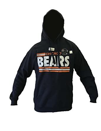 f5e56518 Amazon.com: Chicago Bears Hoodie, Navy, L: Clothing