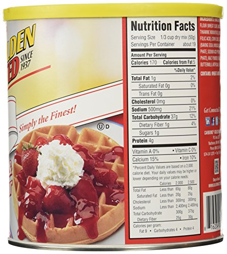 Com Golden Malted Waffle And Pancake Flour Original 66 Ounce Grocery Gourmet Food