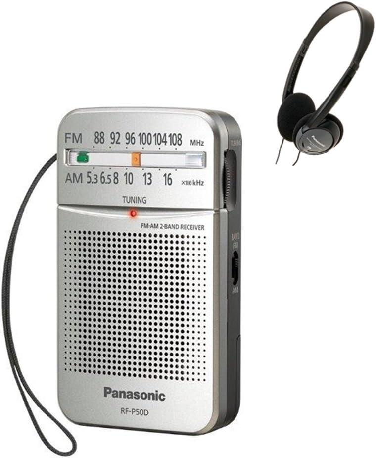 Panasonic RF-P50 Pocket AM/FM Radio, Silver with Headphone: Electronics