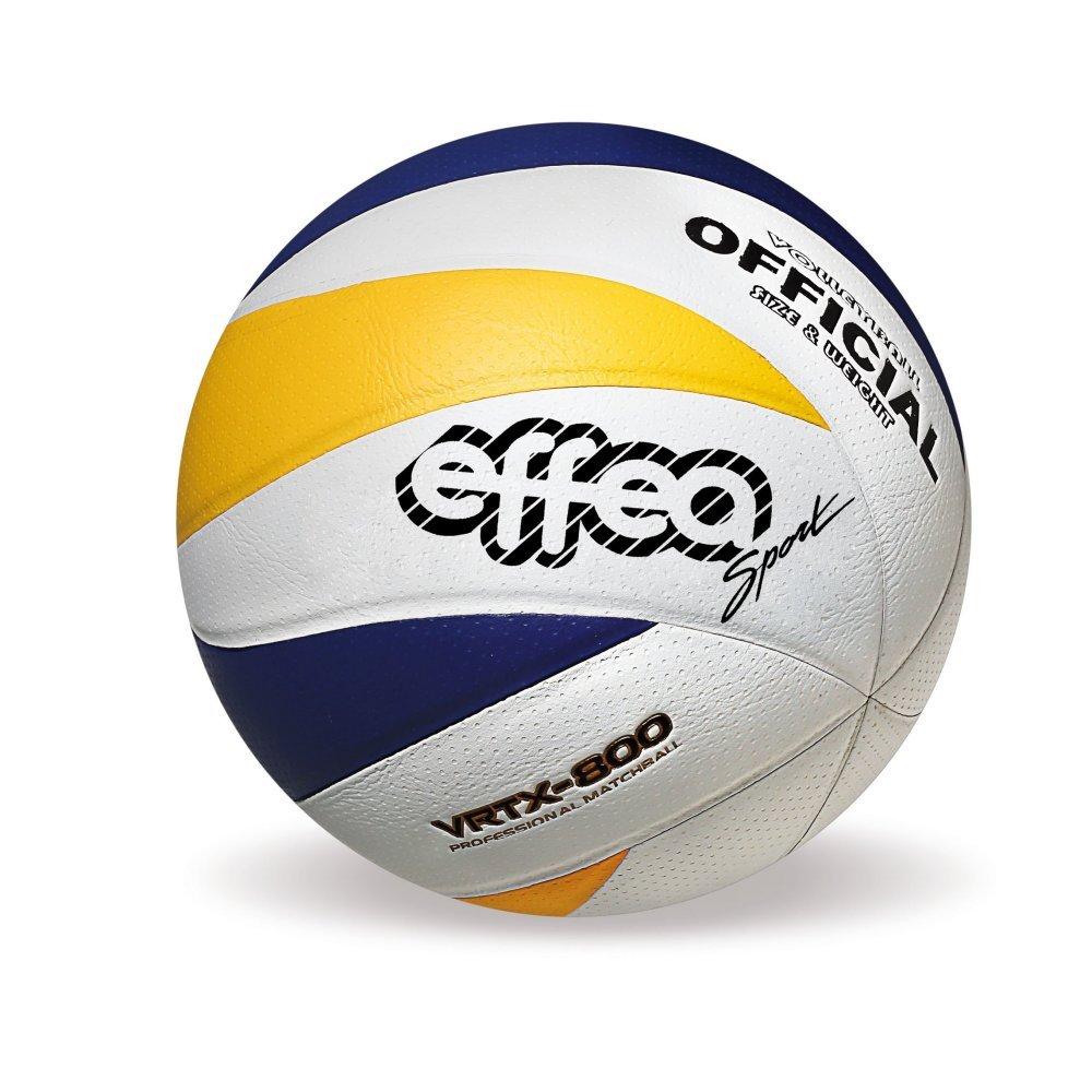 EFFEA 6833 Balón Voleibol, Blanco/Amarillo/Azul: Amazon.es ...