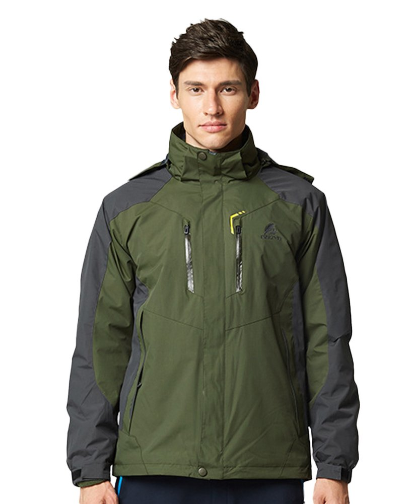 Amazon.com : Oncefirst Mens Watertight II Front-Zip Hooded Rain Jacket : Sports & Outdoors