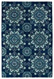 Kaleen GLB12-22-912 Global Inspiration Collection Hand Tufted Rug, 9′ x 12′, Navy Review