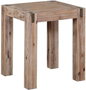 Alaterre Furniture Woodstock End Table, Standard, Driftwood
