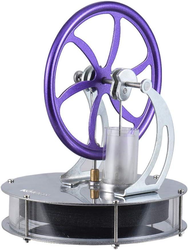 KKmoon KKmoon Motor Stirling de Baja Temperature, Stirling Motor Modelo de Calefacción,Stirling Motor de Vapor,Stirling Motor para Educación juguete DIY Kit