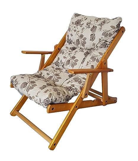 Sedie A Sdraio Per Interni.Toto Piccinni Poltrona Sedia Sdraio Harmony Relax In Legno Pieghevole 3 Posizioni Grigio Floreale