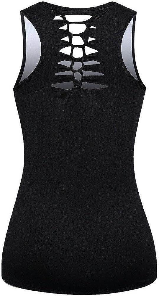 Women O Neck O Neck Bandage Printed Blouse Tank Sequin Clothes Top