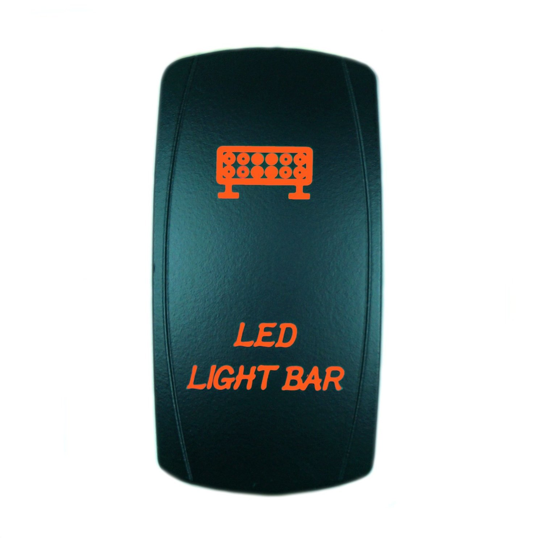 Orange QUNQI STAR 5 pin Laser Backlit Rocker Switch ROCK LIGHTS 20A 12V On//off LED Light Toggle Switch