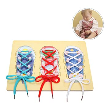 Samber Baby Learn To Tie Shoelace Board Basic Skill Learning Board