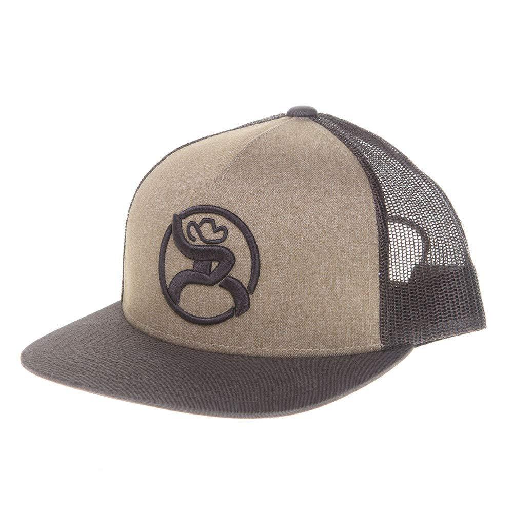 36aea49e10a20e HOOey Mens Mens Mens Roughy 2 0 Brown Trucker Cap with Logo Chocolate Tan  107752