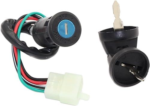 JINGKE 4Pin Ignition Key Switch Set with cap for 50cc 70cc 90cc 110cc 125cc ATV QUAD TAOTAO Pit Dirt Bike Buggy