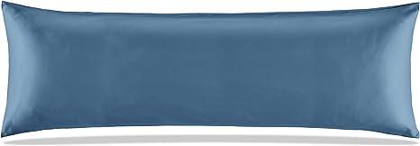 "SLEEP ZONE Satin Pillowcases Temperature Regulation Set of Queen Teal 20/""x30/"""
