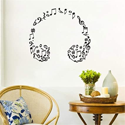 Amazon.com: Arttop Musical Note Wall Decals Music Wall Stickers ...