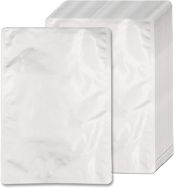 50 Pcs Mylar Bags 1 Gallon (4.5 Mil, 10