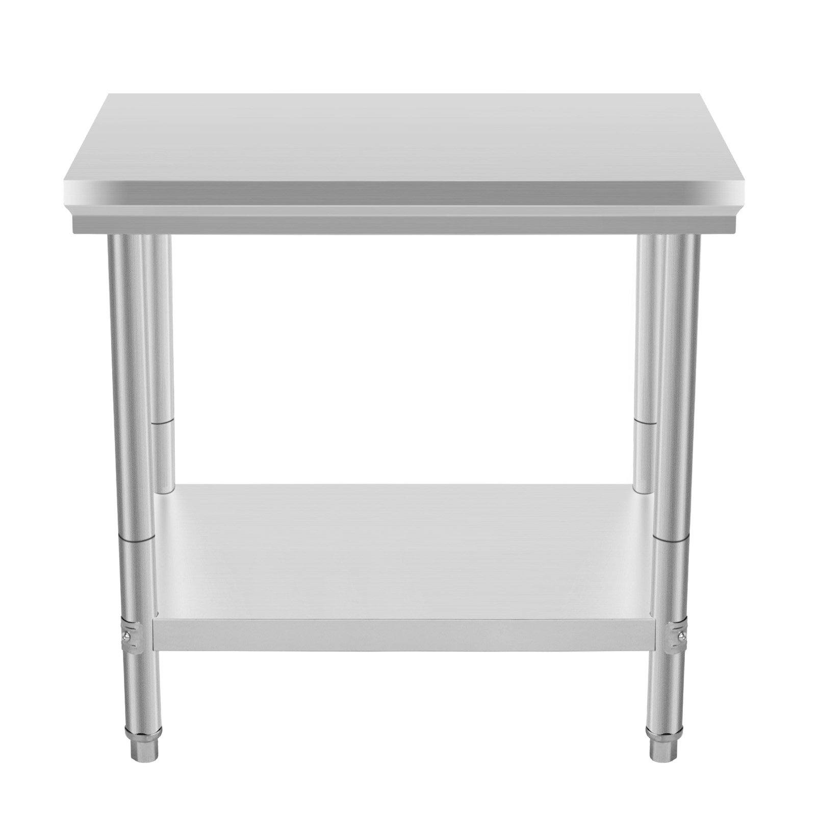 Happybuy NSF Stainless Steel Work Table for Commercial Kitchen Prep Work Table with Lower Shelf Work Table Silvery 36 x 24 inches