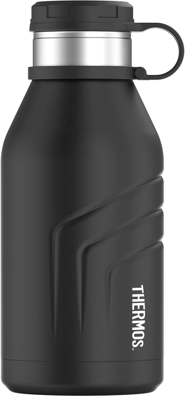 Thermos Element 5 Vacuum Insulated 32 oz Beverage Bottle with Screw Top Lid, Black