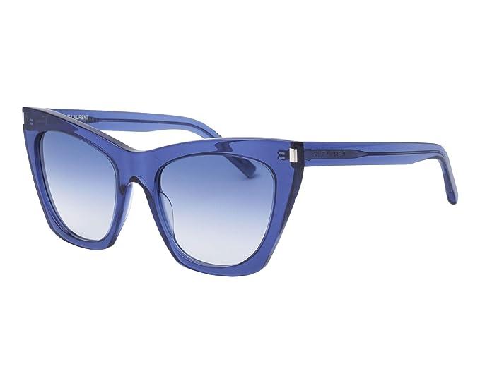 8d6134c75a68d SAINT LAURENT SL 214 KATE 003 BLUE  Amazon.it  Abbigliamento