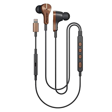 b9fea260256 Amazon.com: Pioneer Rayz Plus Smart Noise Cancellation Headphones In Ear  Earbuds - iPhone Compatible - Lightning - Listen & Charge - Bronze:  Electronics