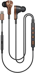 Pioneer Rayz Plus Smart Noise Cancellation Headphones In Ear Earbuds - iPhone Compatible - Lightning - Listen & Charge (Bronze)