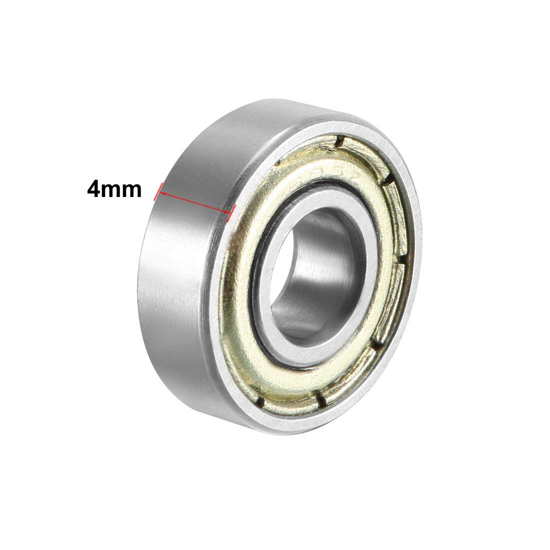 uxcell 695ZZ Deep Groove Ball Bearing Double Shield 695-2Z 1080095 Pack of 4 5mm x 13mm x 4mm Carbon Steel Bearings