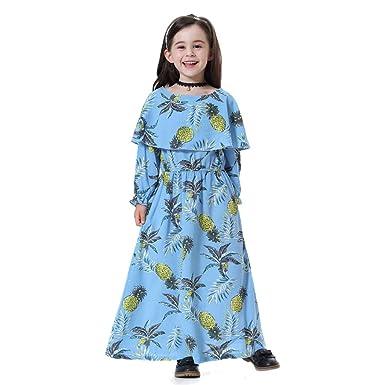 Yuyuando Robe Fille Musulmane Enfant Bebe Fille Abaya