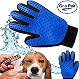 Pet Grooming Glove and Deshedding Glove Brush Best for Dogs...