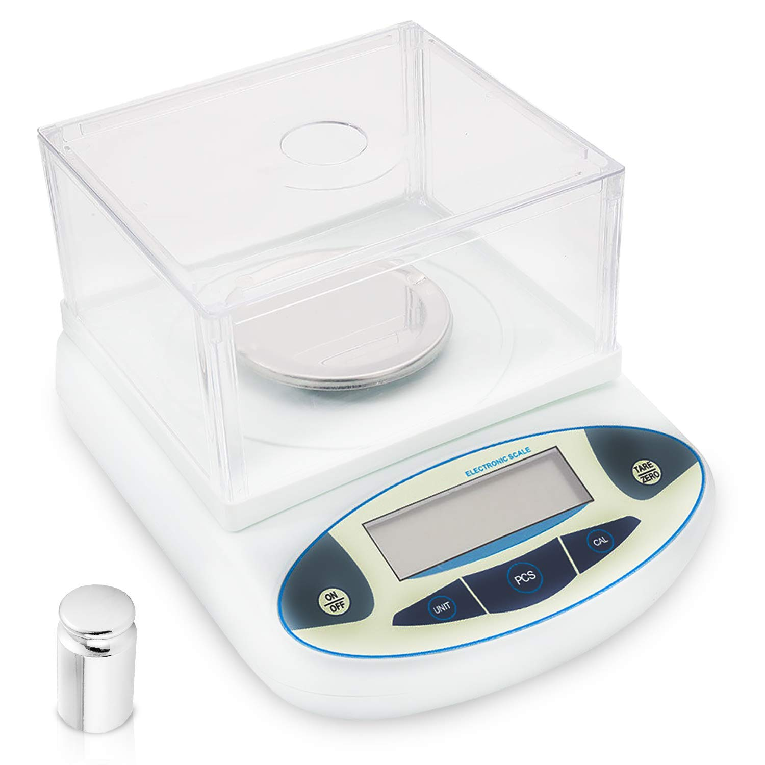 300g x 0.001g Scientific Lab Scale 1 mg High Precision Electronic Laboratory Scale Analytical Balance LCD Digital Analytic Instrument with Wind Shield 200g Calibration Weight and Power Adapter