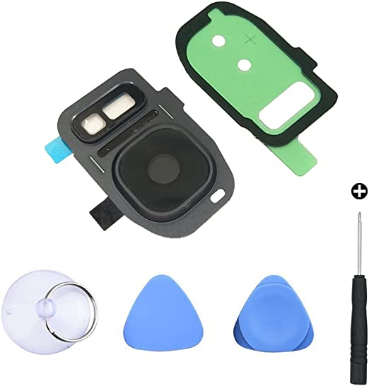 Clean Cloth S7 Edge Repair Tools YUYOND Back Camera Glass Lens Replacement with Adhesive for Samsung Galaxy S7