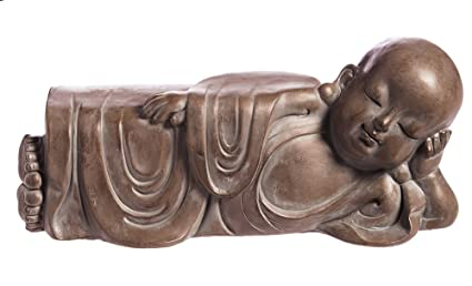 Evergreen Resting Buddha Stone Garden Statue