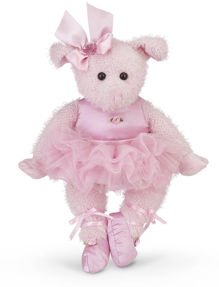15 Bearington Collection Bearington Bitsy Ballerina Plush Stuffed Animal Pig with Tutu Pink