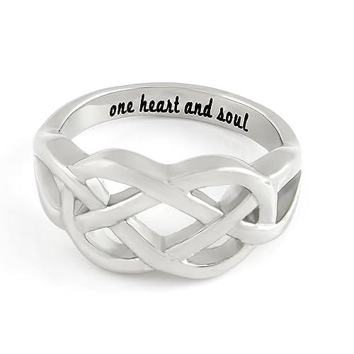 "infinity anillo para novia o novio, promesa anillo símbolo de infinito anillo ""un"