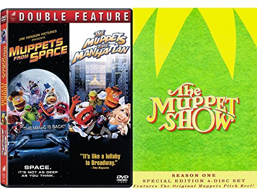 Kermit & Piggy The Muppets Collection Season 1 DVD & From Space + Take Manhattan Movie Bundle Double Feature (Sesame Street The Best Of Ernie And Bert)