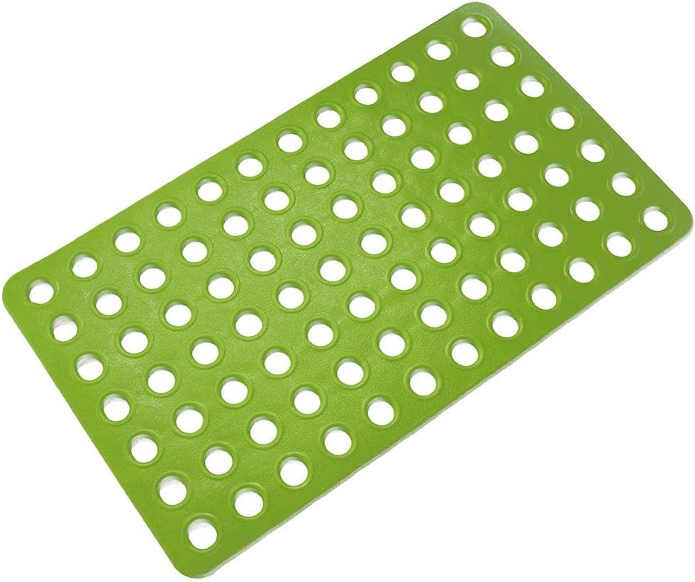 Colorful Star Non-Slip TPE Bathtub Mat with Big Drain Holes /& Suction Cups Machi