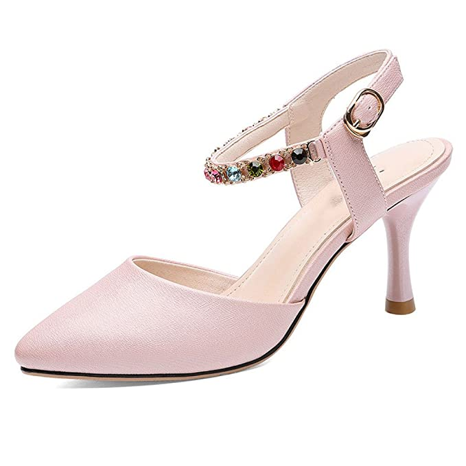 66986ce64 Hope Zapatos Cerrados De Tacón Alto Para Mujer Tacones Cerrados Bombas  Zapatos De Fiesta De Boda De Las Señoras  Amazon.es  Ropa y accesorios